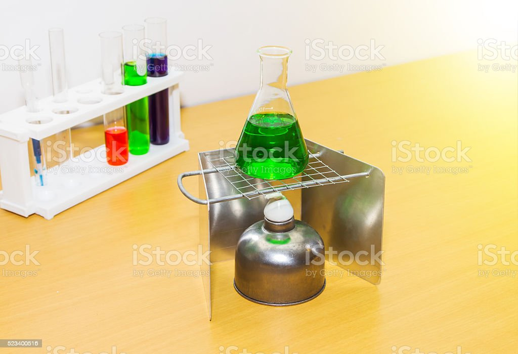 Group of laboratory on background. stock photo