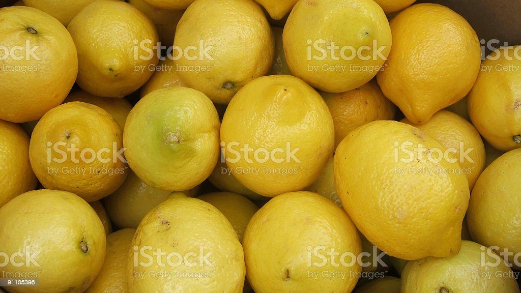 Group of Lemons. royalty-free stock photo
