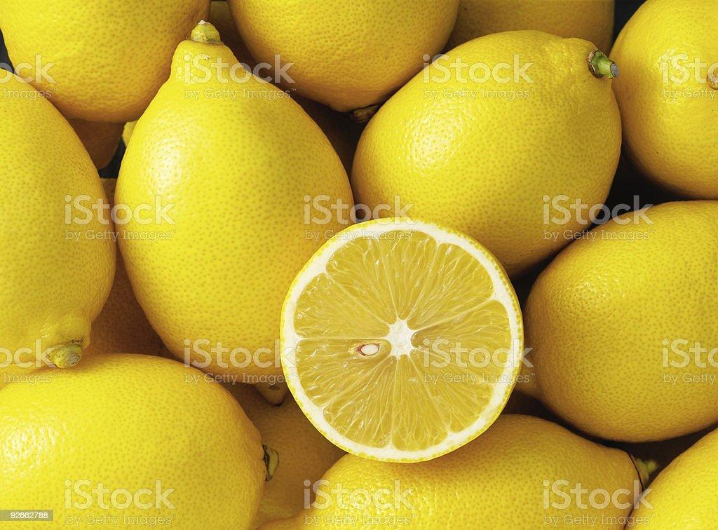 Group of lemons stock photo