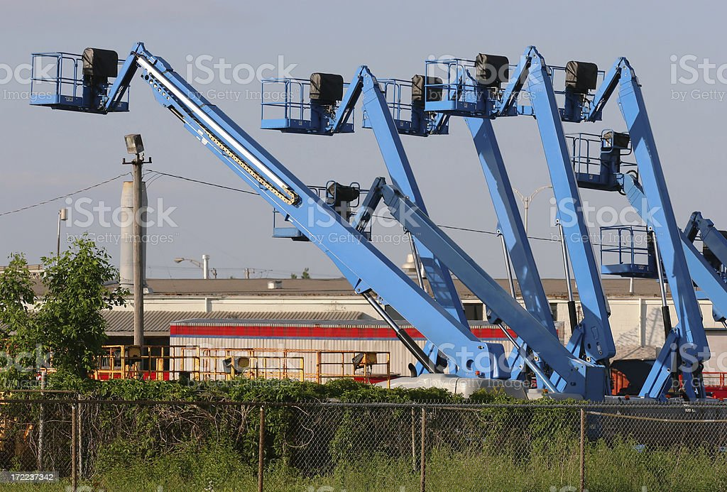 Group of Lifting Equipments stock photo