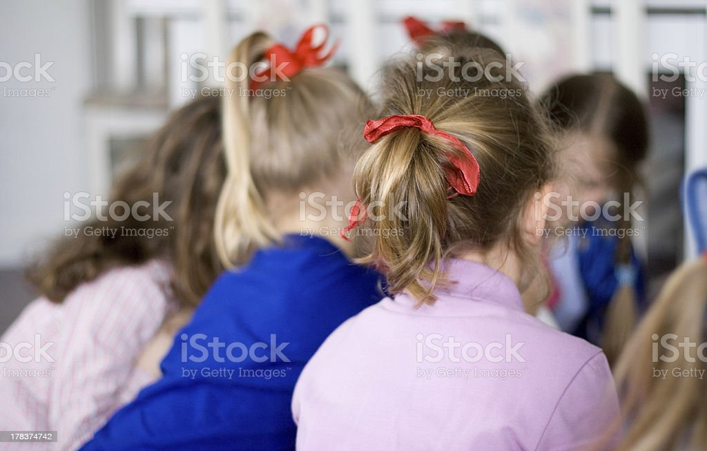 Group of Little Girls royalty-free stock photo