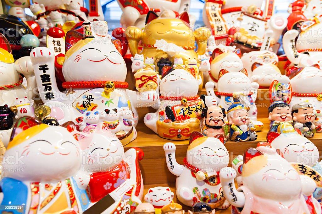 Group of Maneki Neko – lucky cats stock photo
