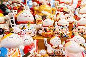 Group of Maneki Neko – lucky cats