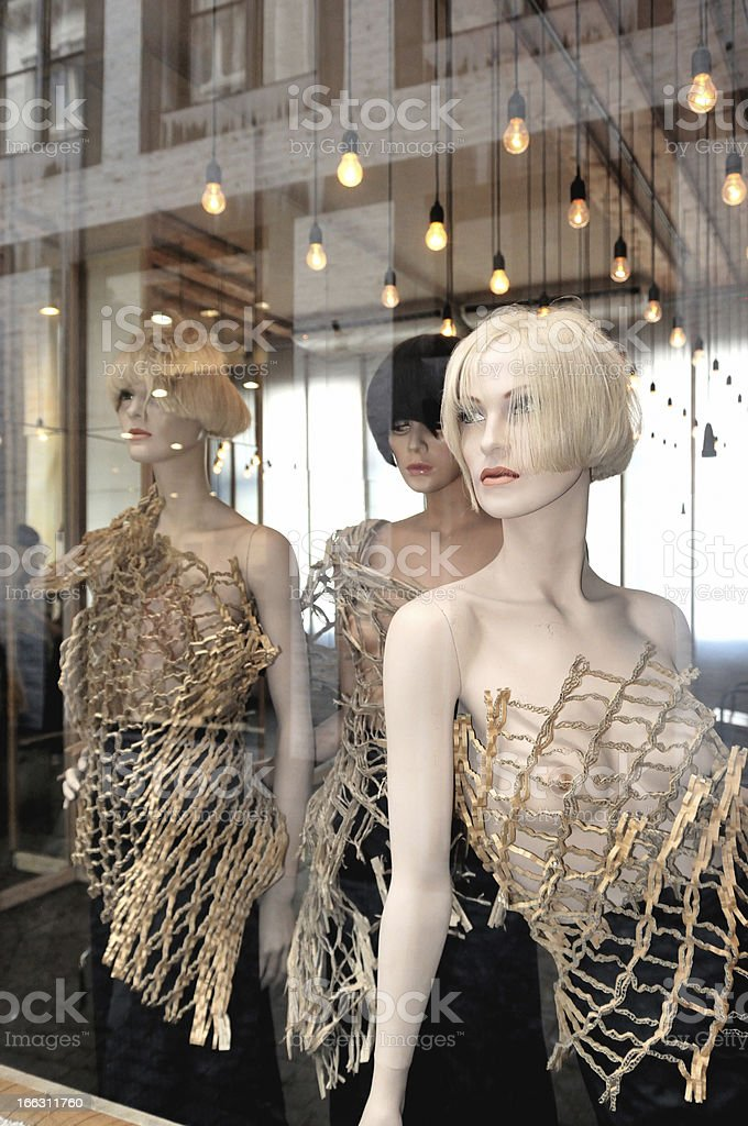 Group of mannequins royalty-free stock photo