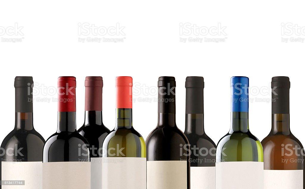 Group of many bottles stock photo