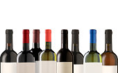 Group of many bottles