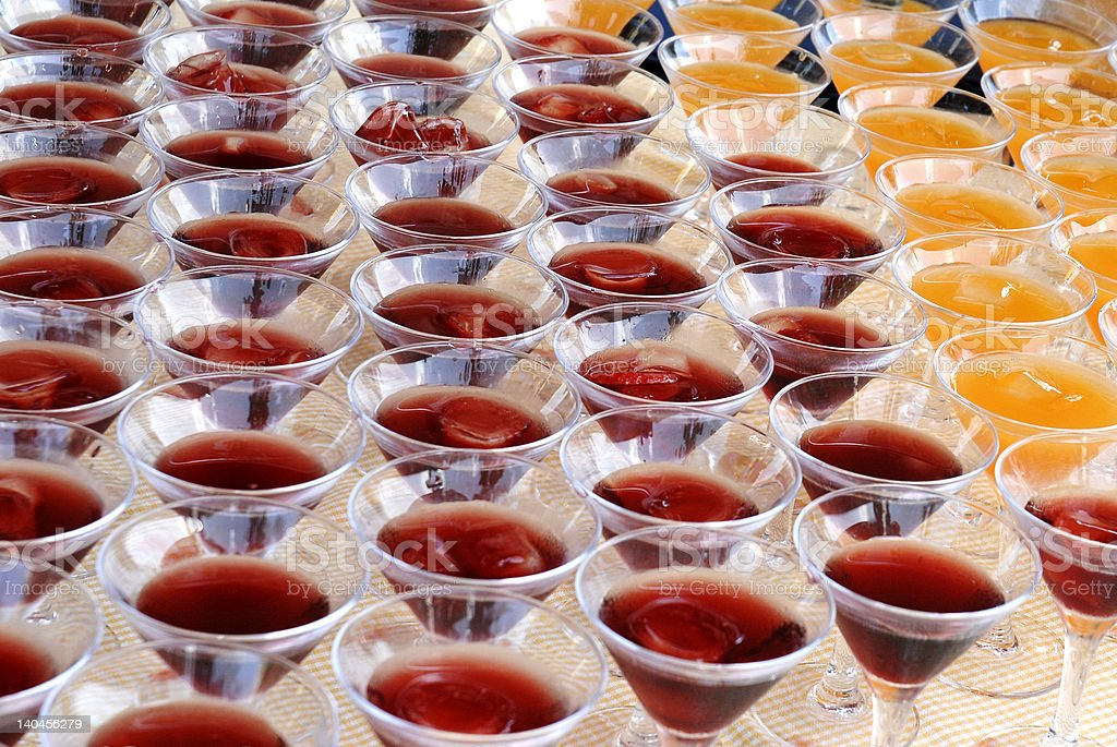 Group of martini glasses royalty-free stock photo