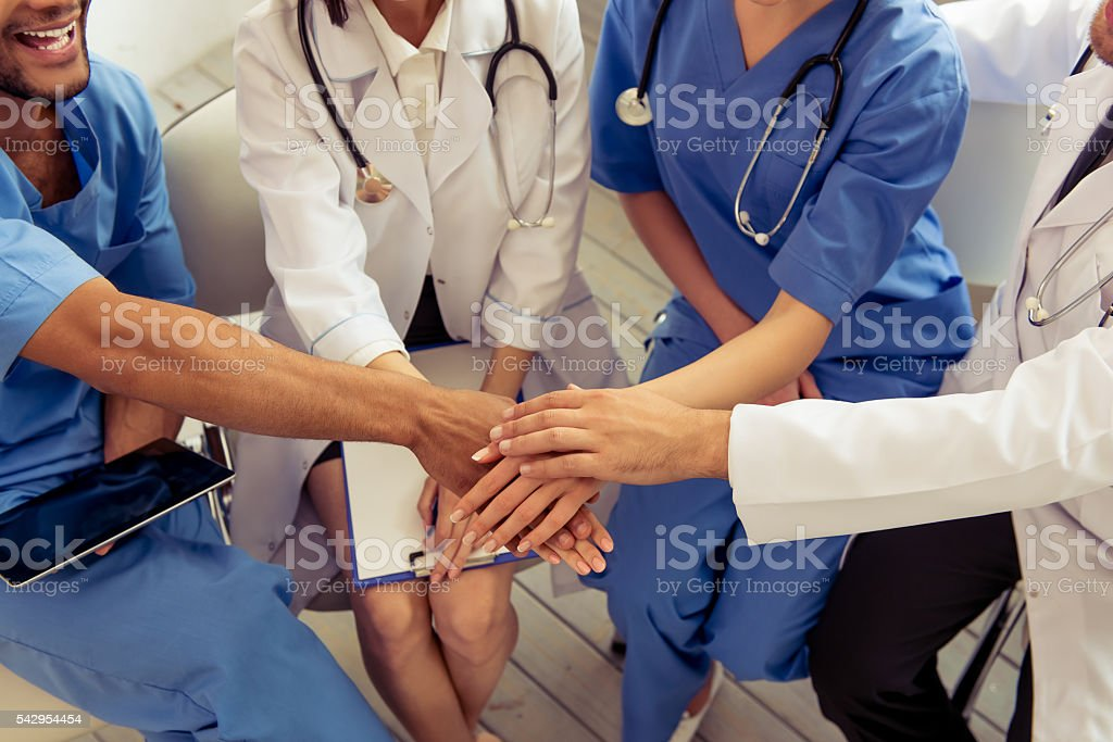 Group of medical doctors stock photo