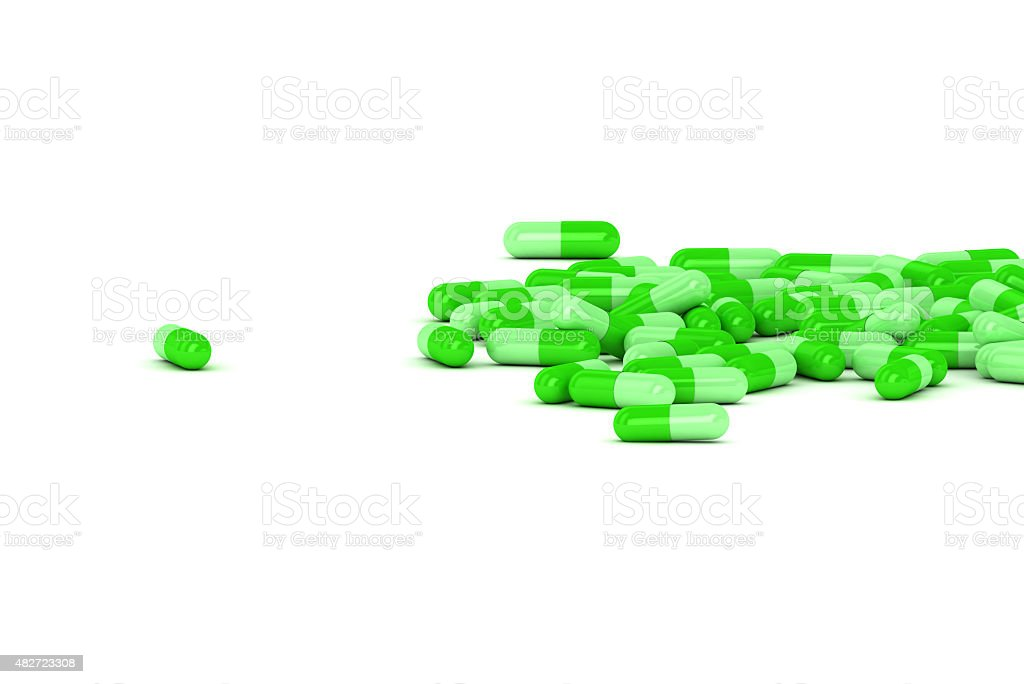 Group of Medical Pills on a white background stock photo