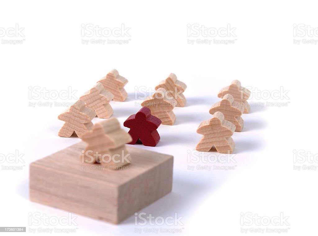 Group of Meeples royalty-free stock photo