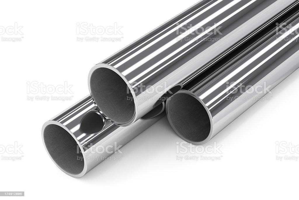 Group of Metal Tubes royalty-free stock photo