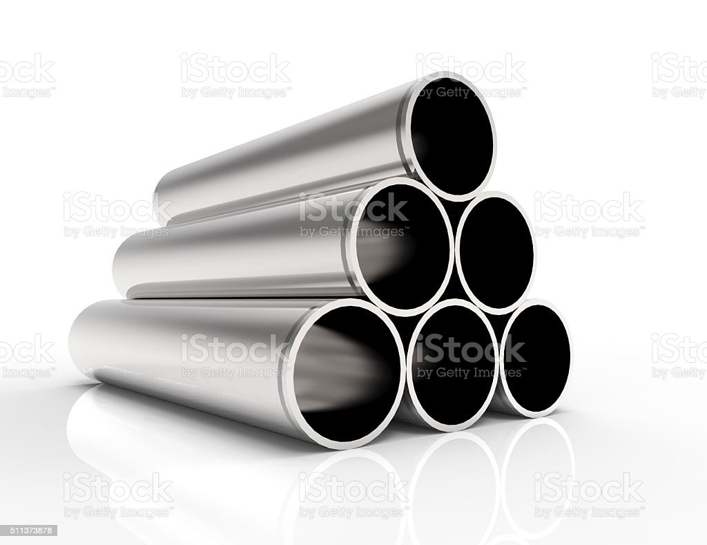Group of Metal Tubes stock photo