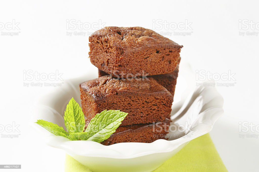 Group of mini brownies royalty-free stock photo