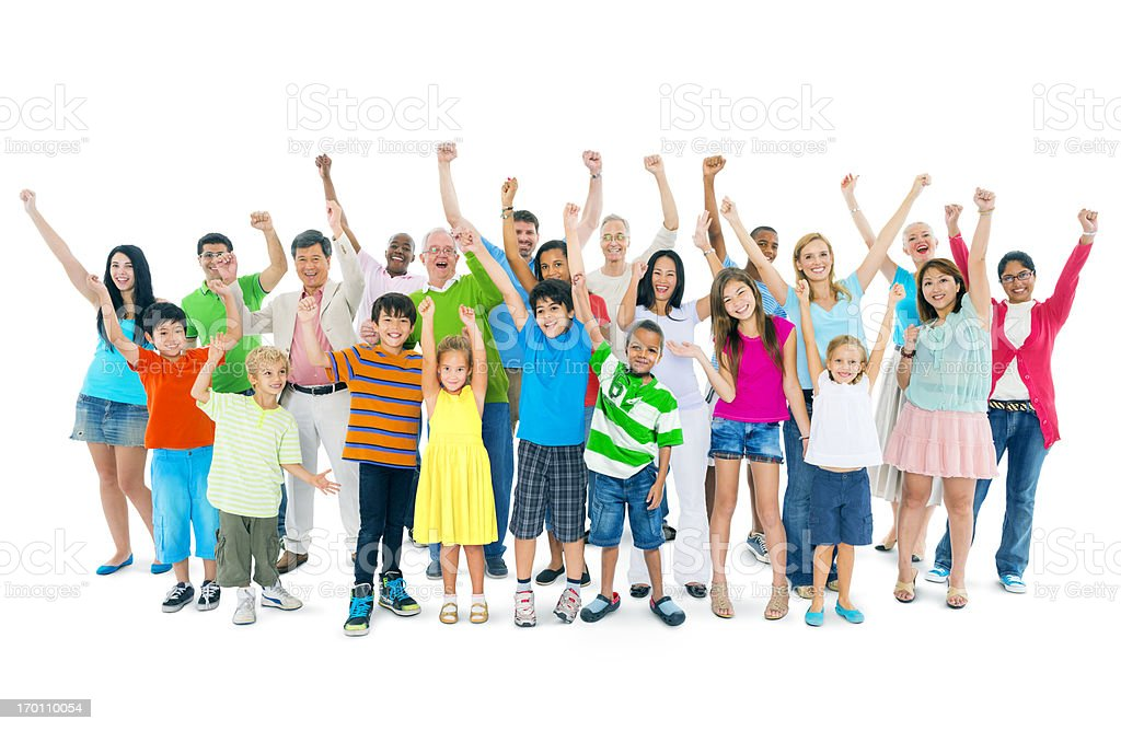 Group of mixed age people stock photo