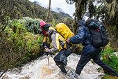 Group of mountaineers at Mt. Rwenzori, Uganda