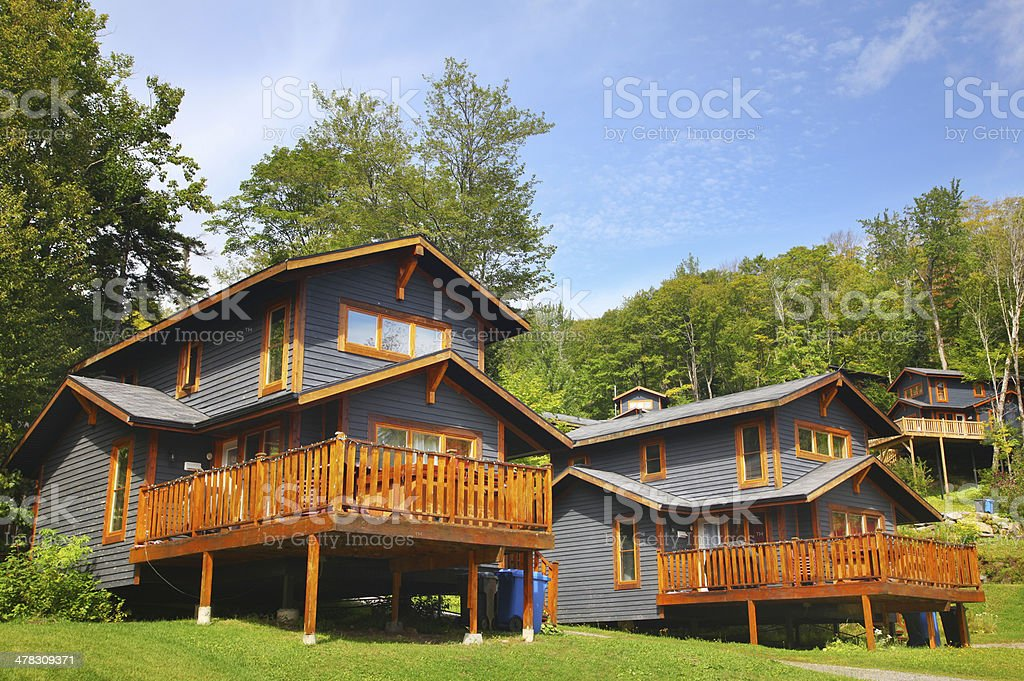 Group of Mountainside Houses royalty-free stock photo