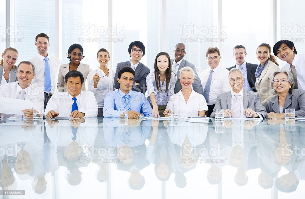 Group of multi ethnic business person meeting royalty-free stock photo