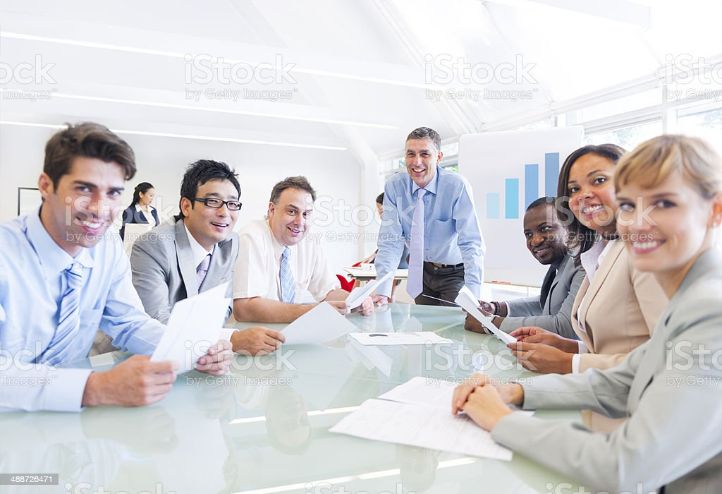 Group of Multiethnic Business People Having a Meeting royalty-free stock photo