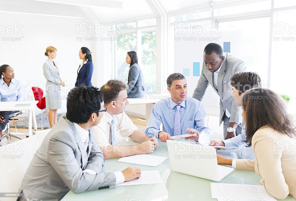 Group of Multiethnic Business People Having a Meeting stock photo