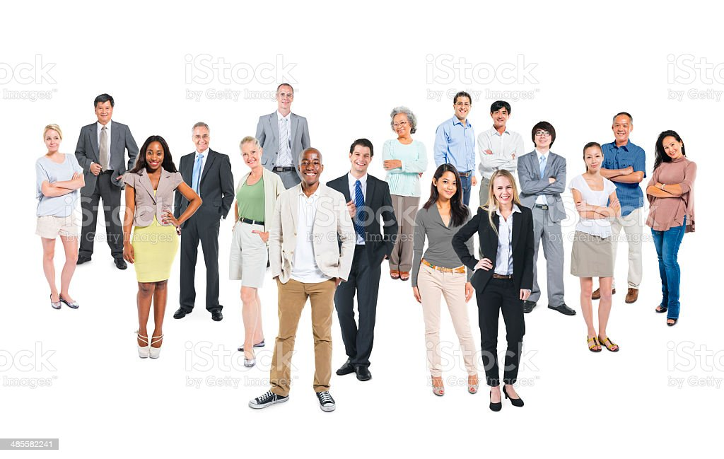 Group of Multi-Ethnic Cheerful Business People stock photo