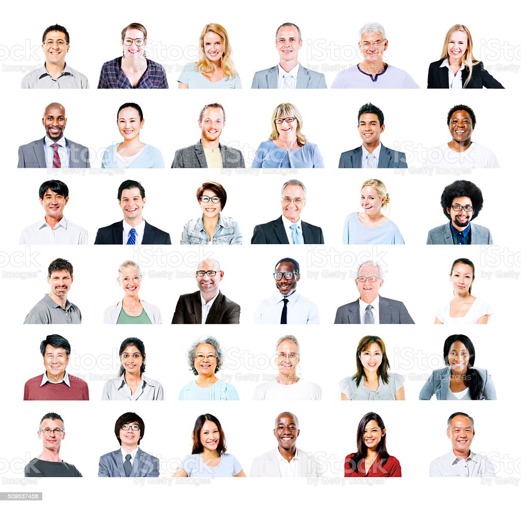 Group of Multiethnic Diverse Business People Concept stock photo