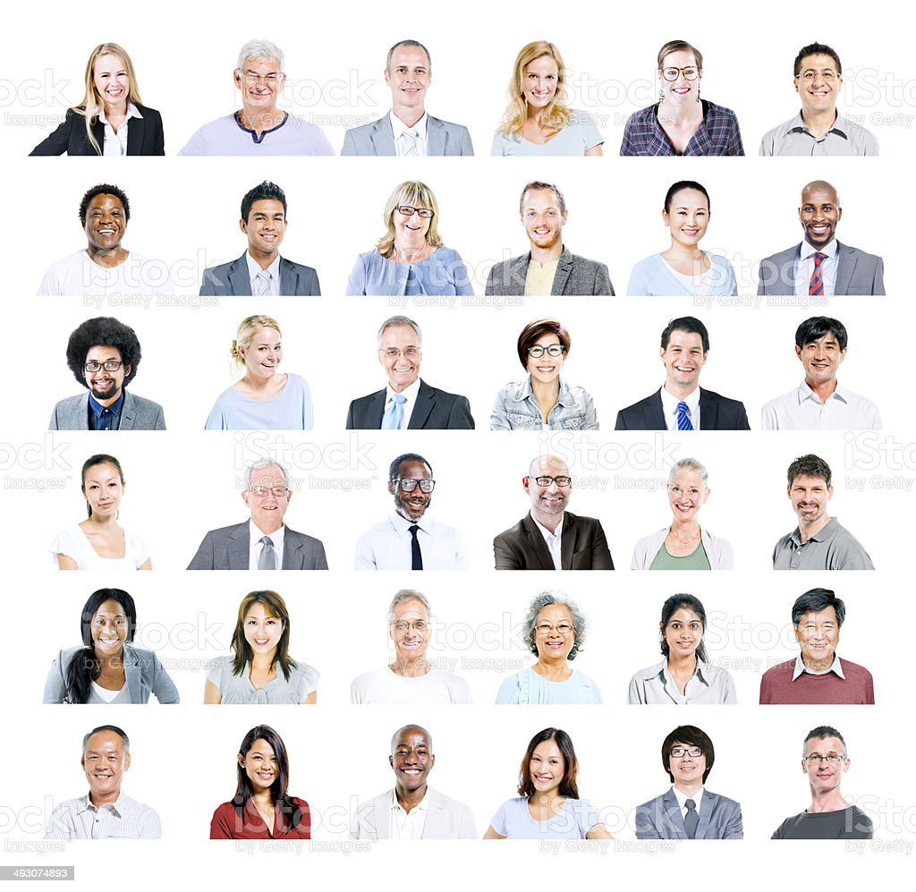 Group of Multiethnic Diverse Business People stock photo