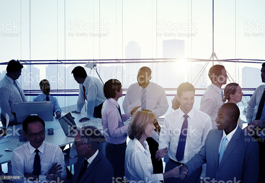 Group of Multiethnic Diverse Busy Business People stock photo