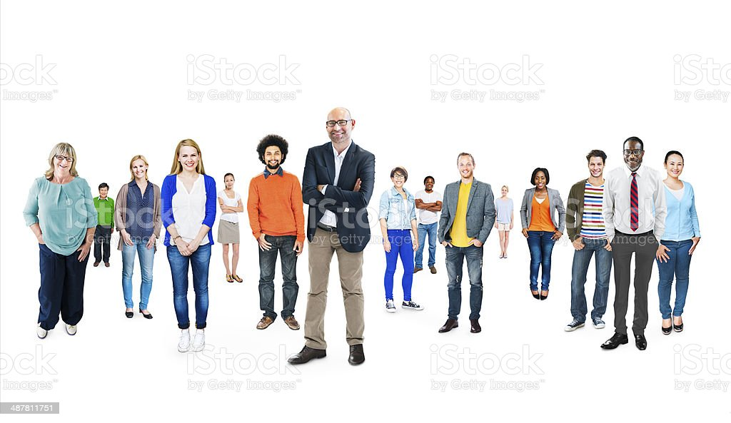 Group of Multiethnic Diverse Cheerful People stock photo
