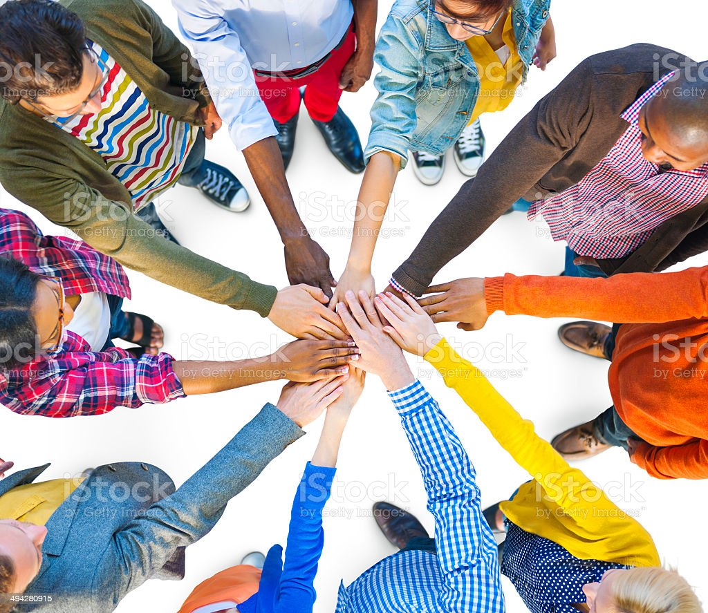 Group of Multiethnic Diverse People Teamwork stock photo