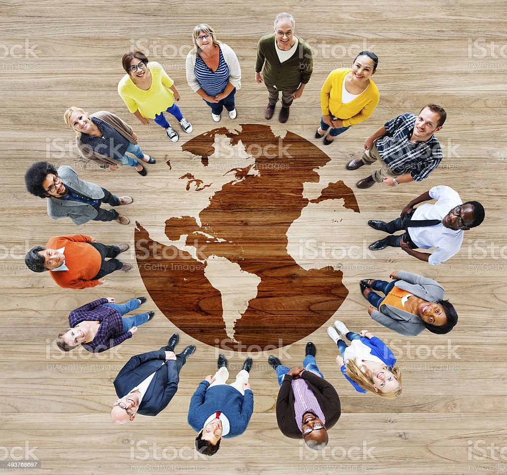 Group of Multiethnic Diverse World People stock photo