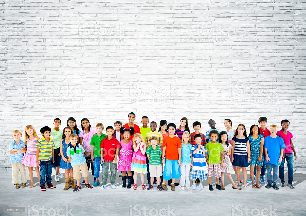 Group of Multiethnic Happy Children stock photo