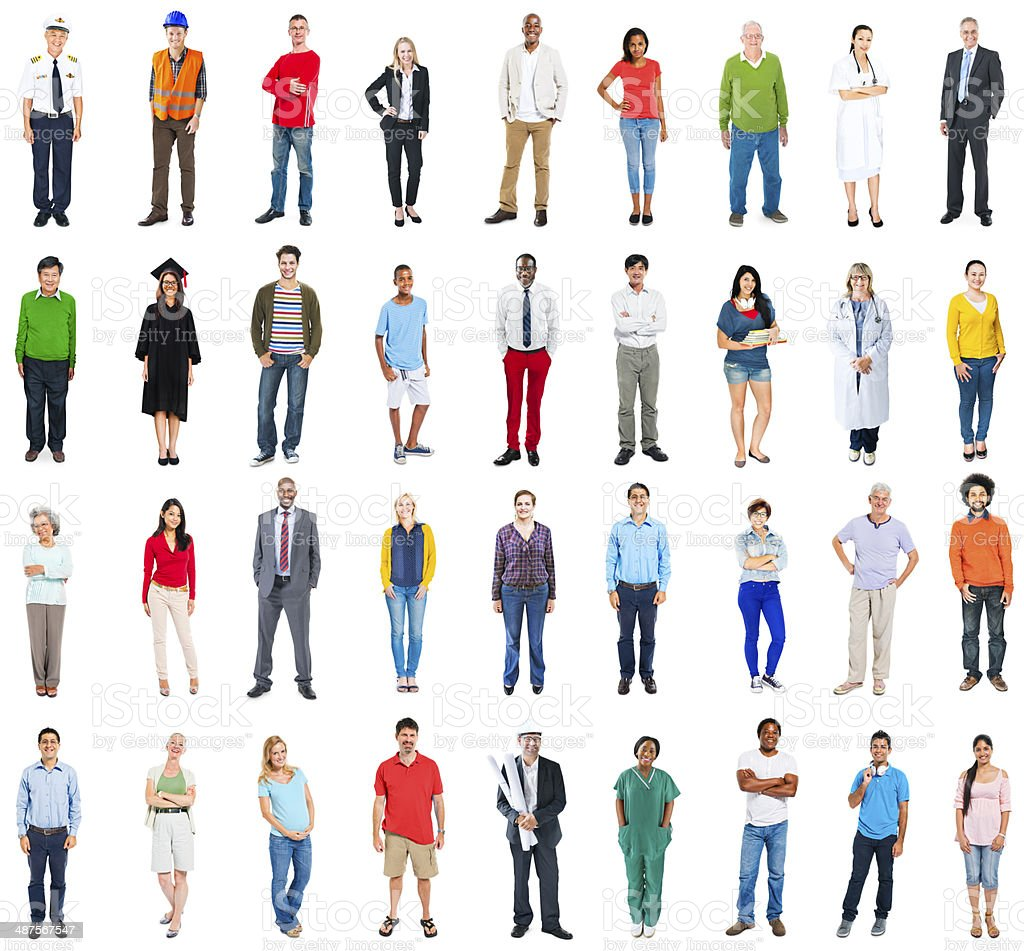 Group of Multiethnic Mixed Occupation People stock photo