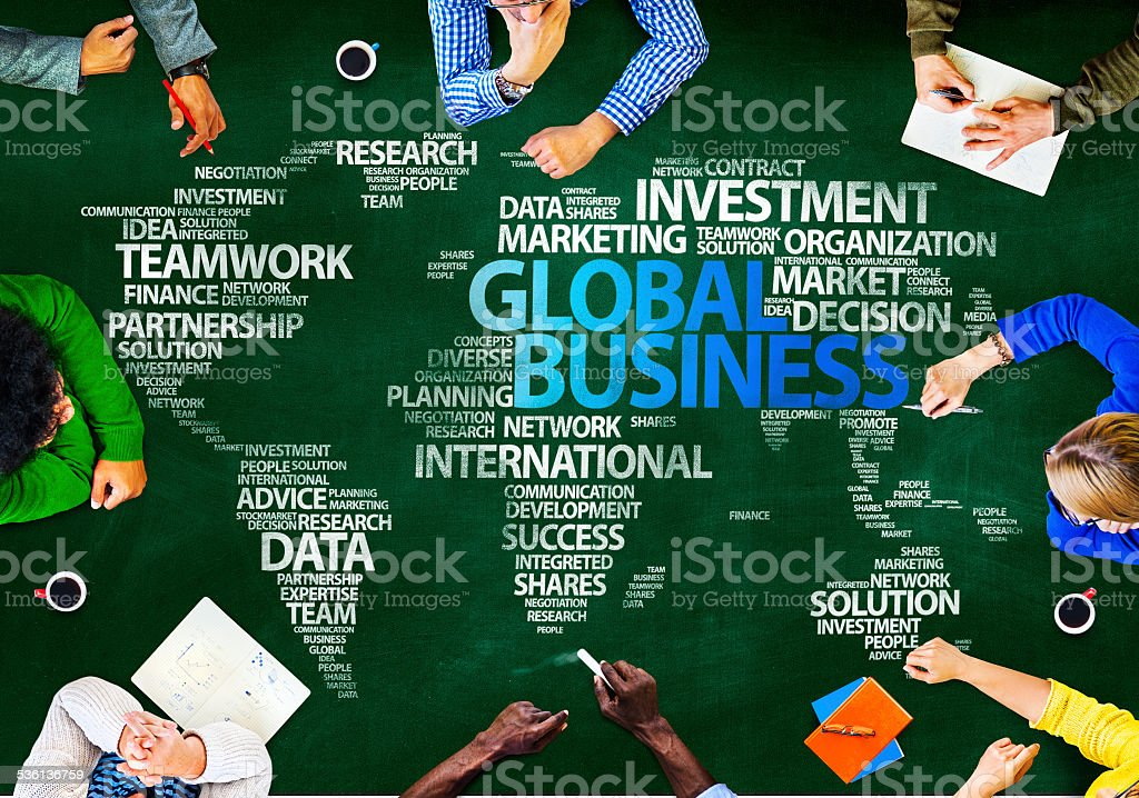 Group of Multiethnic People Discussing Global Business Issues Co stock photo
