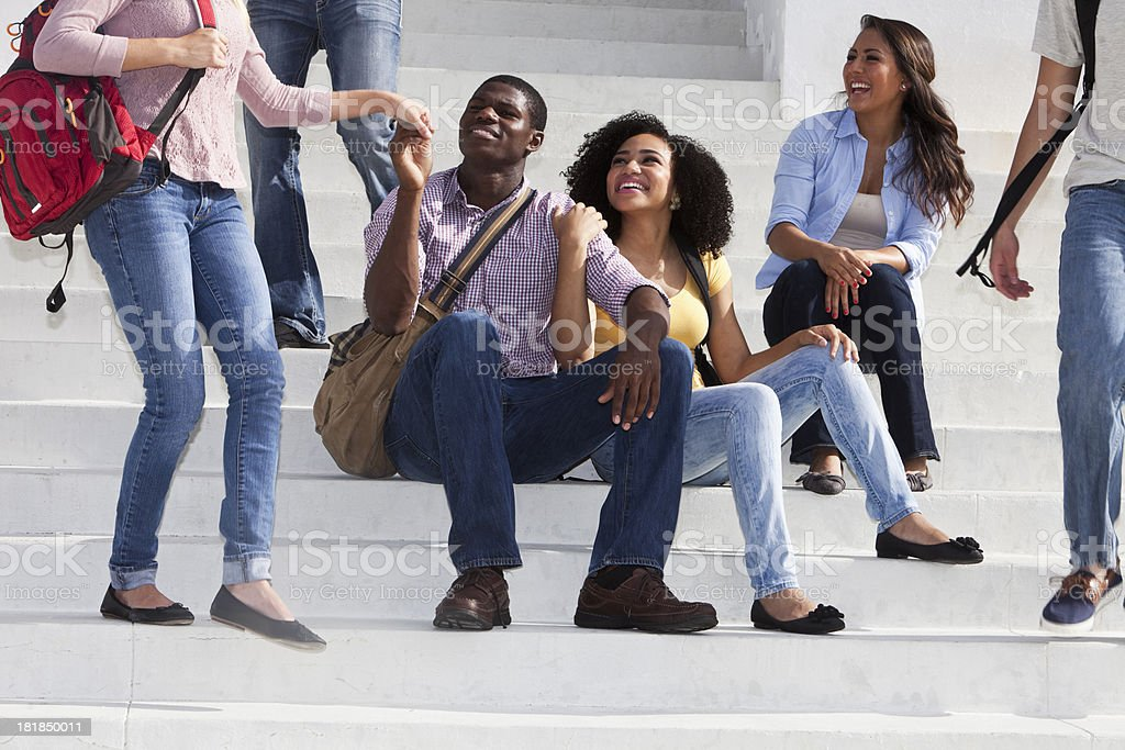 Group of multi-ethnic students royalty-free stock photo