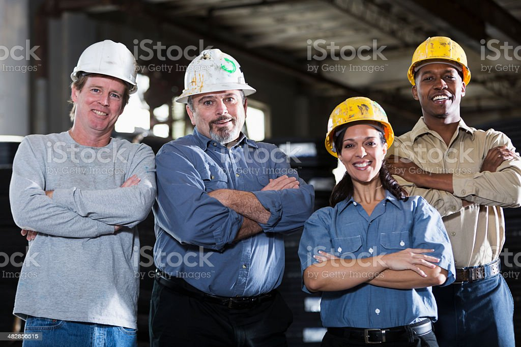 Group of multi-ethnic workers royalty-free stock photo