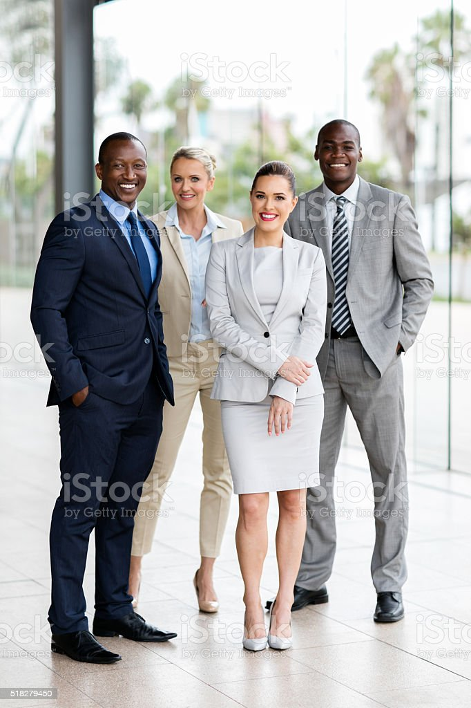 group of multiracial businesspeople stock photo