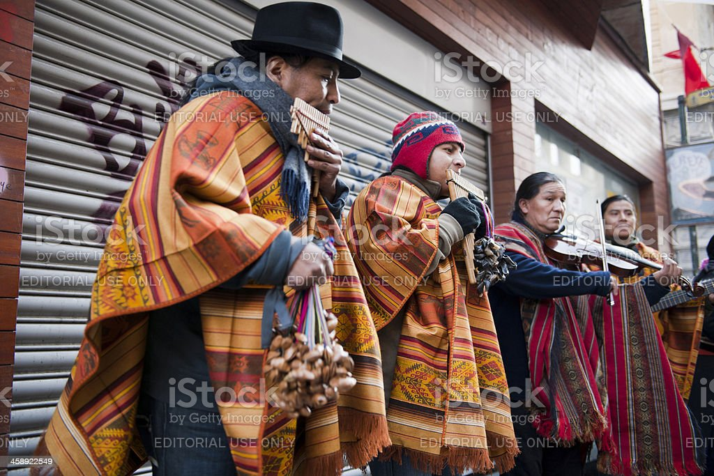 Group of Musicians from Equator stock photo