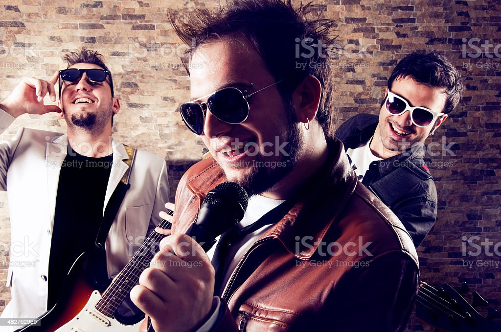 Group of musicians stock photo