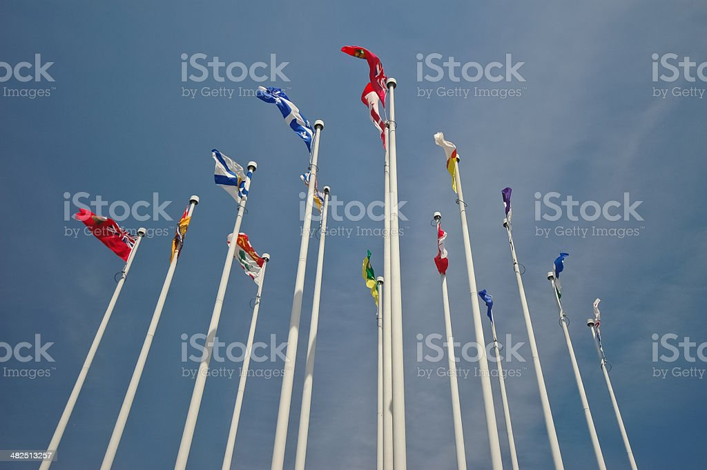 group of national flags royalty-free stock photo