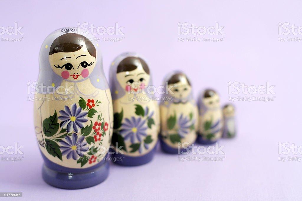 group of nesting dolls royalty-free stock photo