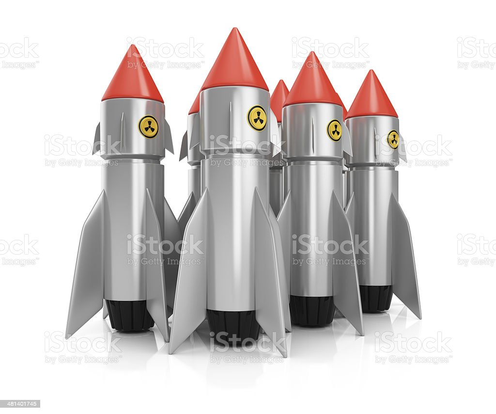 Group of nuclear missiles royalty-free stock photo