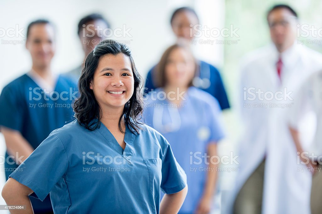 Group of Nurses and Doctors stock photo