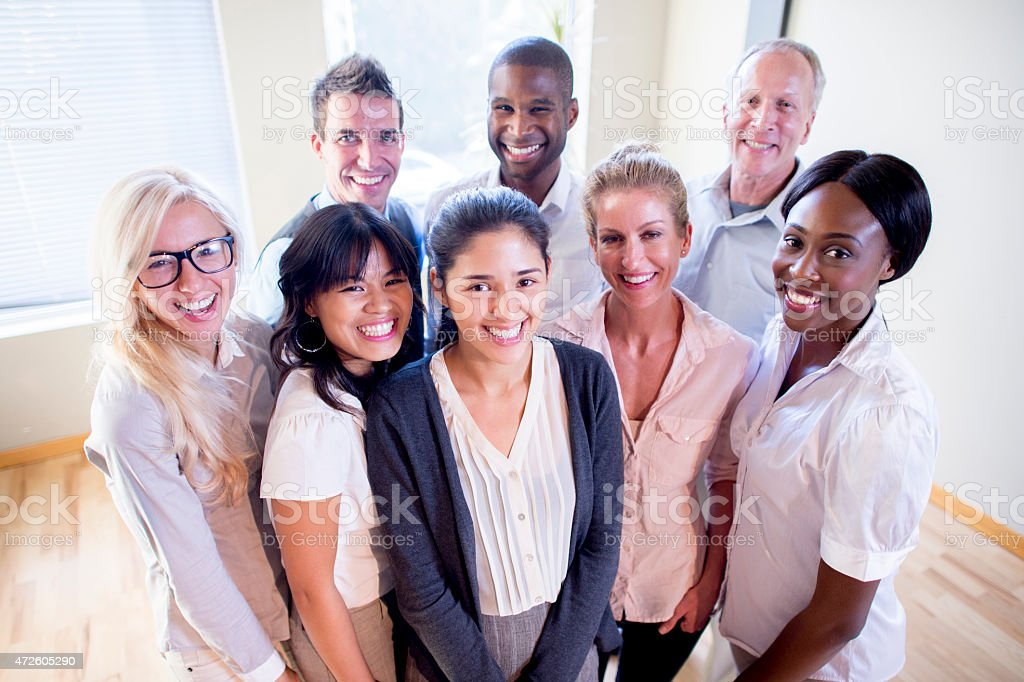 Group of Office Employees stock photo
