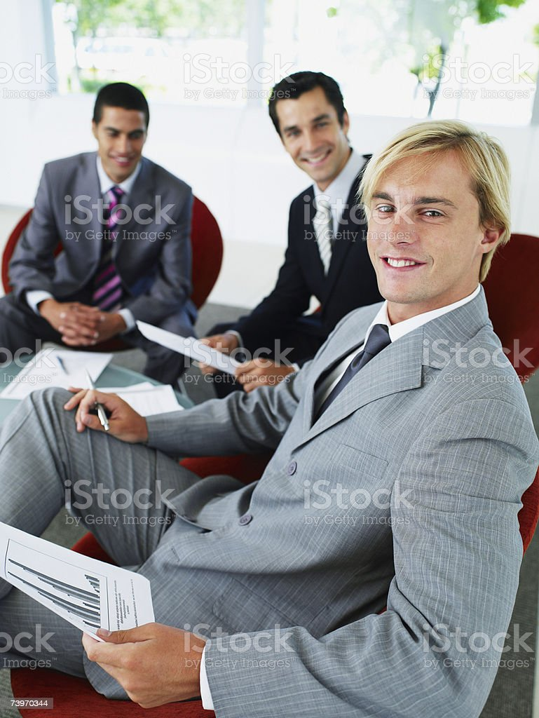 Group of office workers in a meeting royalty-free stock photo