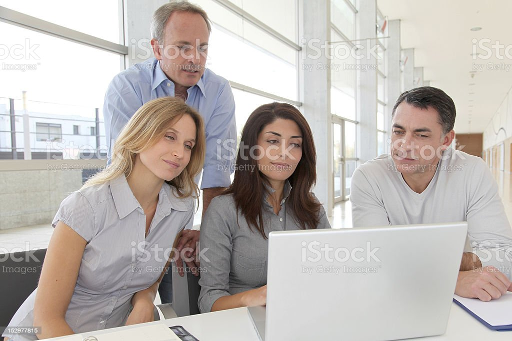 Group of office workers royalty-free stock photo