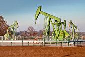 Group of Oil Pump Jacks