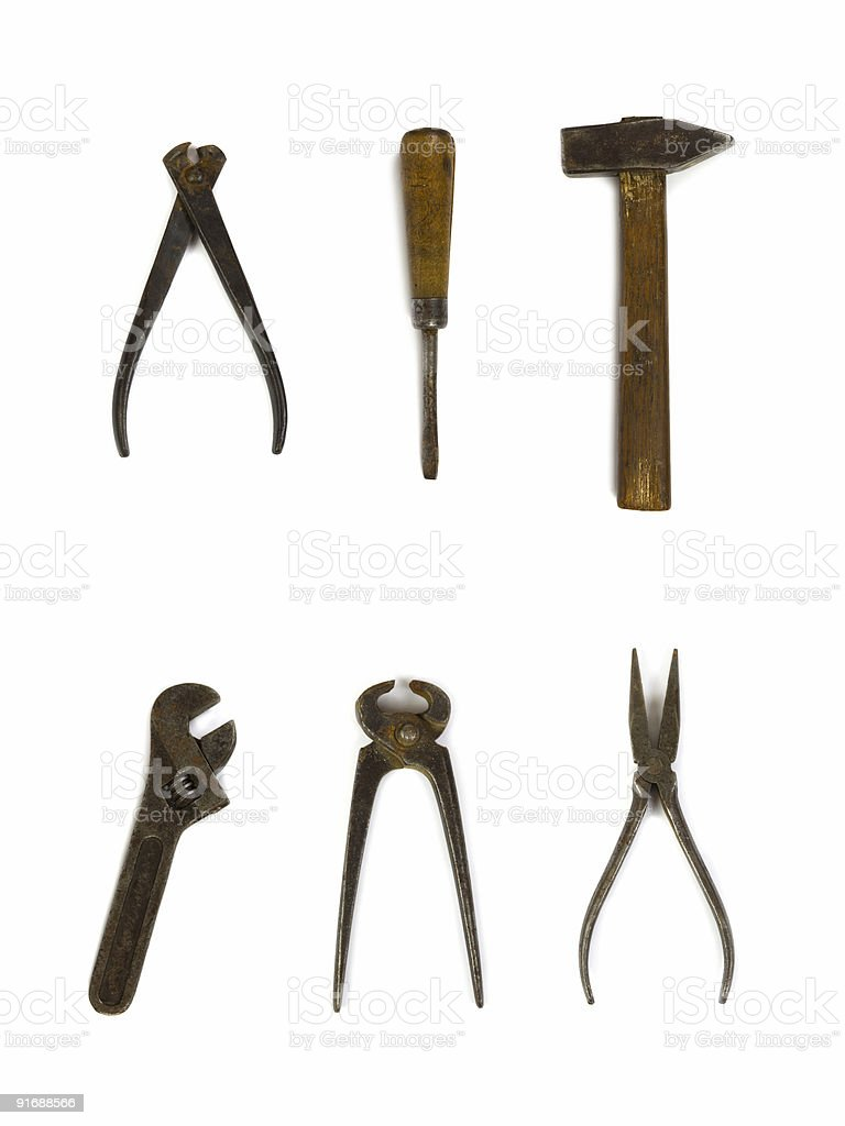 Group of old tools royalty-free stock photo