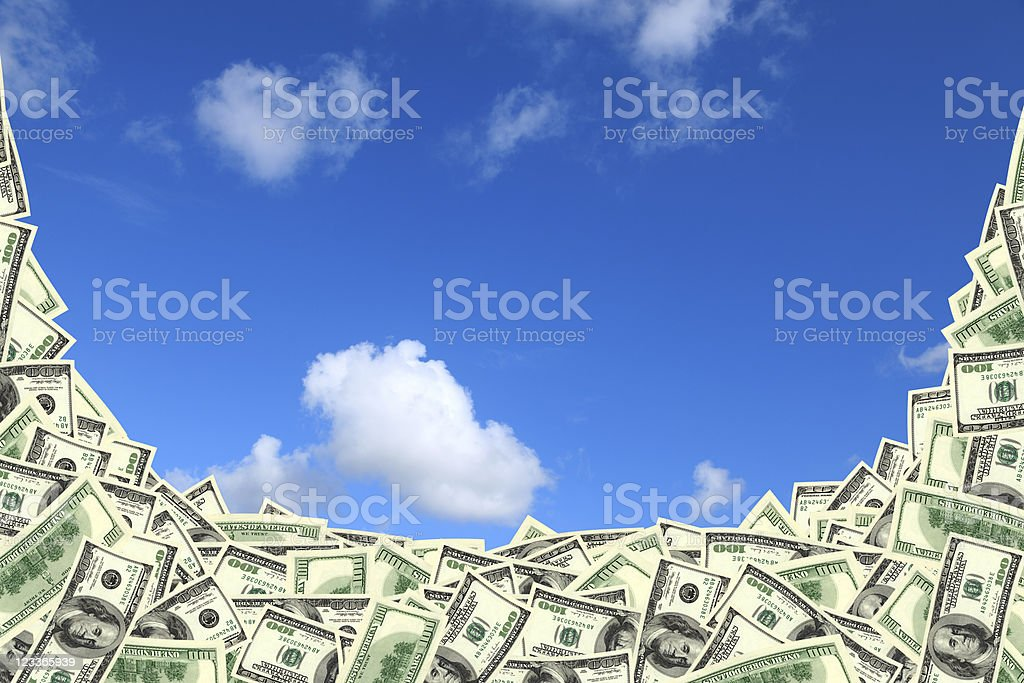 group of one hundred dollar frame royalty-free stock photo