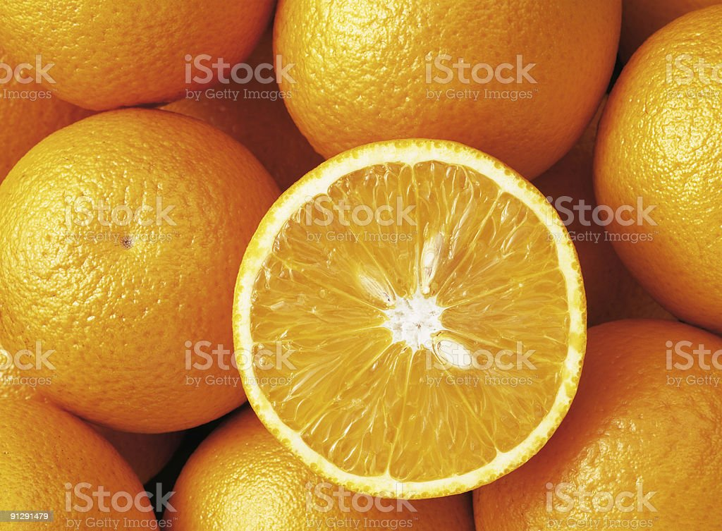 Group of oranges royalty-free stock photo