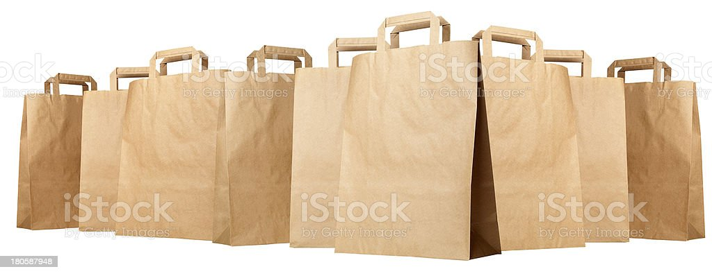 Group of paper shopping bags royalty-free stock photo